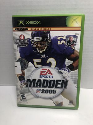 XBOX Madden NFL Football 2005 complete with Manual for Sale in Los Angeles, CA