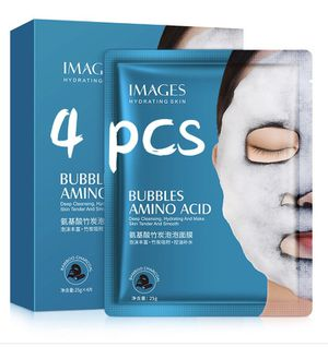 Bubble Bamboo Mask 4 Pcs Cleansing Mask Amino Acid Moisturizing Oxygen Foam Black Face Mask Facial Whitening Bright white Skin for Sale in Chino Hills, CA