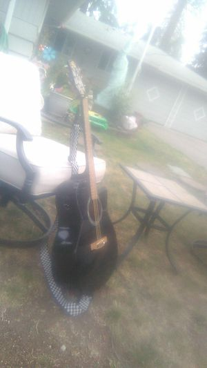 Laurel canyon acoustic-elec Leetric guitar with really cool strap for Sale in Tacoma, WA
