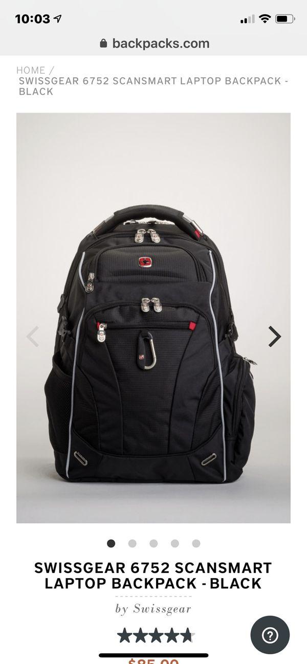 SWISSGEAR 6752 Scansmart Laptop Backpack - Navy