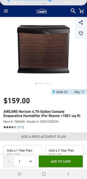 AIRCARE Evaporative humidifier 4.75 GALLON for Sale in North Las Vegas, NV