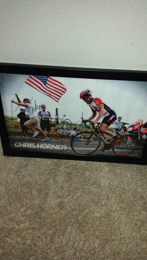 Autographed Chris Horner tour of California print for Sale in Apex, NC