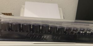 Snap-On chrome Metric 3/8 drive 6pt shallow socket set for Sale in San Antonio, TX