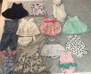 Baby girl clothing size 3-6 months (brands include Tommy Hilfiger, Juicy Couture, Carter's and more! for Sale in Winter Garden, FL
