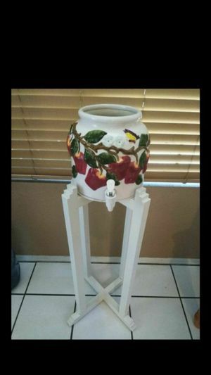 Gorgeous Georgia apple tree Ceramic water pot and stand! A unique find! $50 for Sale in Chandler, AZ