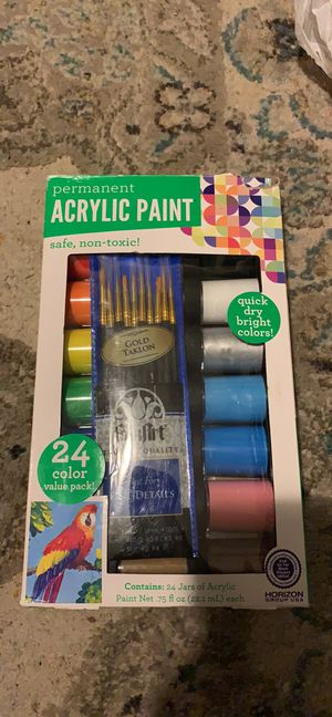 Acrylic paint with brushes for Sale in Yonkers, NY