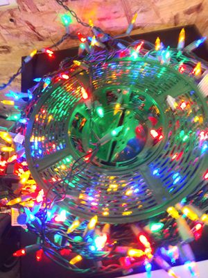 Christmas lights red green yellow blue for Sale in Las Vegas, NV