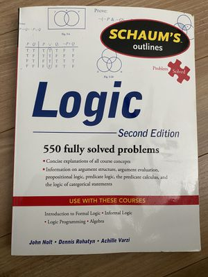Logic Text Book (Schaums Outlines 2nd Edition) for Sale in Glenview, IL