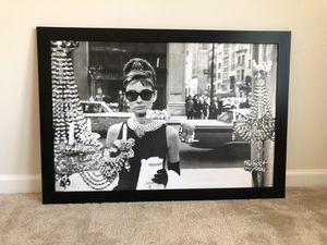 Audrey Hepburn Wood Framed Picture for Sale in Millersville, MD