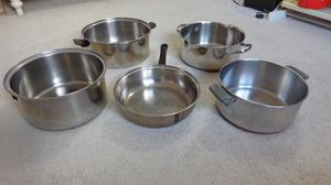 Stainless steel pots plus more for Sale in Irving, TX