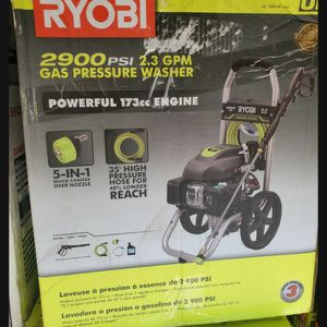 RYOBI GAS 2900 PSI PRESURE WASHER LIKE NEW for Sale in San Bernardino, CA