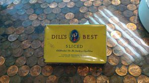 """Vintage """"Dill's Best Sliced"""" Tobacco tin 1930's for Sale in Kissimmee, FL"""