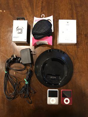 Two iPod Nano 3 (8GB) + JBL Speaker Dock + Xtras for Sale in San Diego, CA