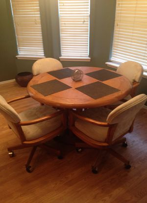 Wooden kitchen table with chairs for Sale in Bixby, OK