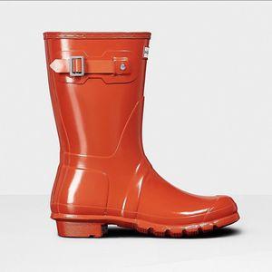 HUNTER Orange Rain Boot for Sale in NO POTOMAC, MD