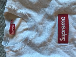 Supreme Box Logo Grey/Red Crewneck Hoodie. 100% Authentic. $500/obo. for Sale in Alexandria, VA