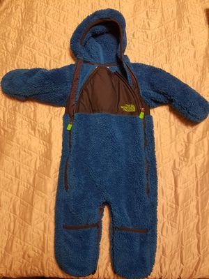 Gently Used North Face bunting suit size 3-6 mths for Sale in Rockville, MD