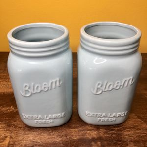 Debi Lilly Bloom Vases Light Blue Mason Jar Style for Sale in Seattle, WA