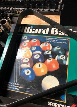 Pool table balls and rack for Sale in Fresno, CA