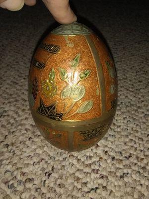 Antique Indian trinket egg. Brass for Sale in Gaston, SC