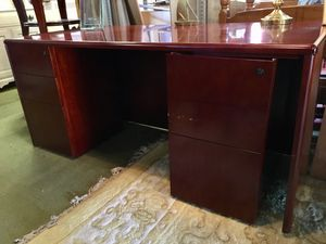 Executive Cherry Wood Desk for Sale in Easton, MA