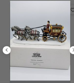 Dept.56 Heritage Royal Coach Horse Wagon Hand Painted Porcelain for Sale in Mill Creek, WA