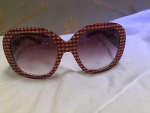 Dolce & Gabbana Sunglasses Oversized Checkered Red White for Sale in Miami Beach, FL