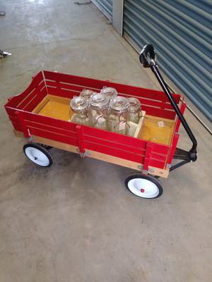 Vintage red wagon with side-boards for Sale in Turlock, CA