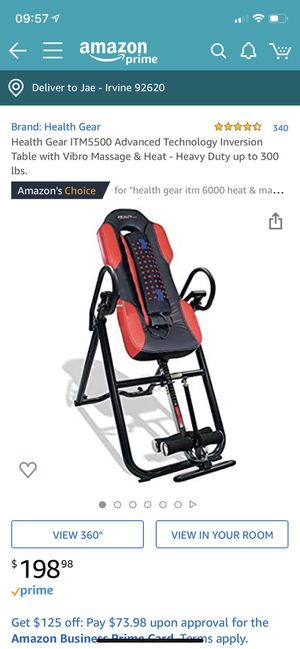 Health Gear inversion table w/ massage and heat for Sale in Leesburg, VA