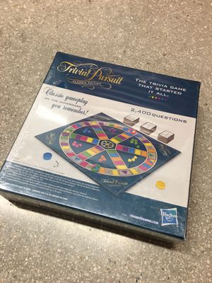 NEW Hasbro Classic Edition Trivial Pursuit 2400 Question Contemporary Board Game for Sale in Coral Gables, FL