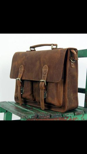 Leather messenger bag!! for Sale in Chicago, IL