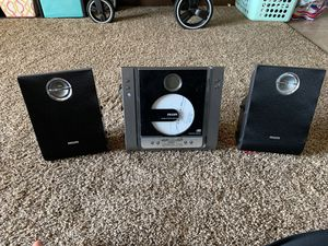 Philips mcm240 mirco system- shelf CD player- Am Fm radio w/speakers for Sale in Lancaster, OH