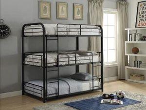 "37330 Bunk Bed (Triple Full) 79"" x 57"" x 74""H for Sale in San Antonio, TX"
