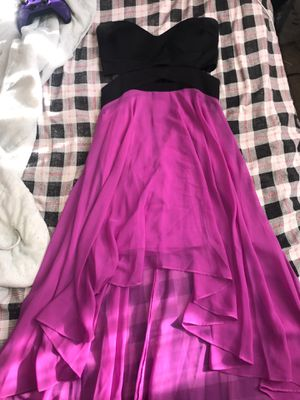 black & purple gown high low dress for Sale in Durham, NC
