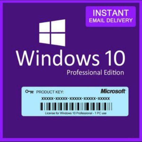Microsoft Windows 10 Professional Pro 32/64 bit Product Key Activation!!