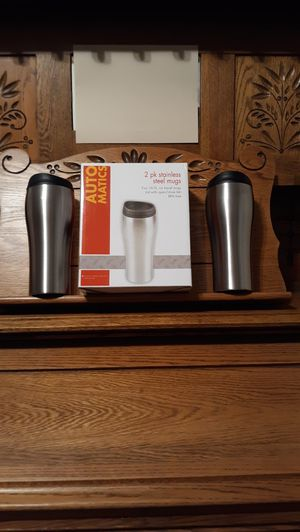 """Stainless Steel 20oz Auto Mugs 8"""" 2 PC Set New for Sale in Lynchburg, VA"""