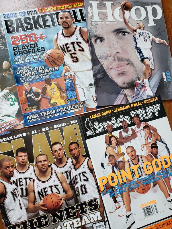 Jason Kidd New Jersey Nets NBA basketball magazines