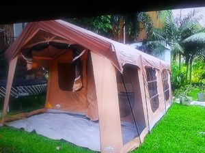 House tent 20 x10 8 people tent like new. And 2 air mattress $250 for Sale in Philadelphia, PA
