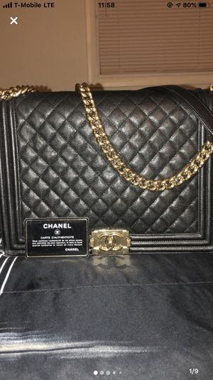 Authentic Black Chanel Bag W/ Gold Chain for Sale in Elkridge, MD