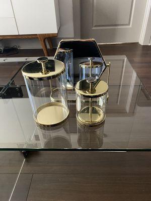 WestElm Gold Bathroom Set for Sale in McLean, VA