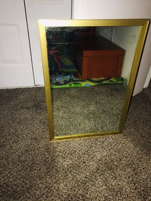 Mirror with gold rim for Sale in Laurel, MD