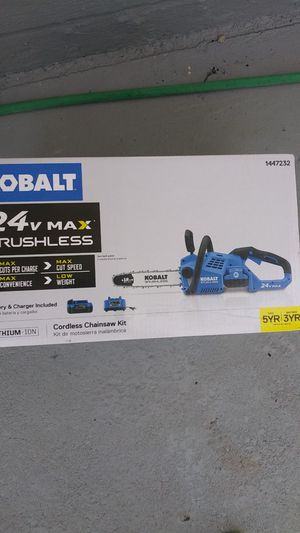 Kobalt 40v Max Cordless Pole Saw Kit/ Kobalt 24v Max Brushless Cordless Chainsaw Kit for Sale in Landover, MD