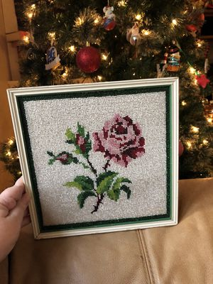 Beaded rose art for Sale in Pittsburgh, PA