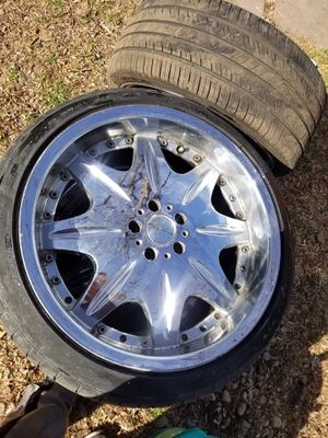 "20"" Custom Chrome ""Giovanna Ararat"" RIMs with Tire from Mercedes-Benz S W220 for Sale in Denver, CO"