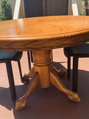 Beautiful Wooden Table with Leather Chairs for Sale in Washington, DC