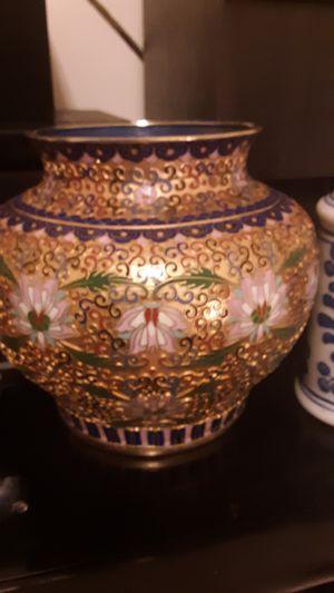 Large ceramic gold multi color vase antique for Sale in Springfield, OH