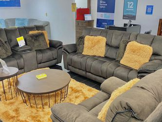 ***SALE*** Barcelona Fabric Reclining Sofa, Loveseat And Chair. No Credit Needed & ONLY $50 DOWN. Same Day Delivery 🚚!!! for Sale in Tampa,  FL