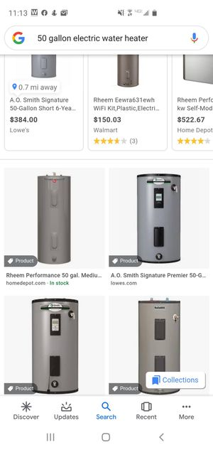 50 gallon electric water heater $300 can install for $550 for Sale in PA, US
