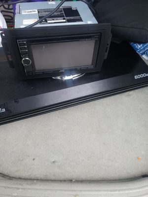 Jvc touch screen and amp for Sale in Millville, NJ
