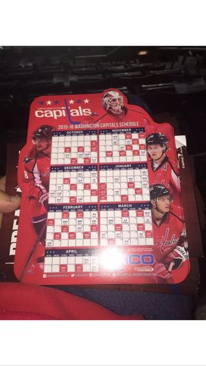 Washington Capitals Magnetic Schedule 2015/16 season for Sale in Manassas, VA